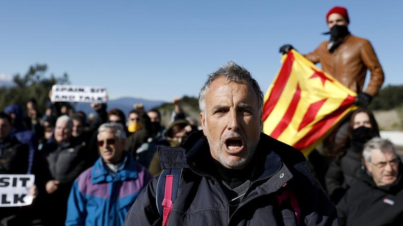 LIVE: Katalanische Demonstranten blockieren Grenzübergang zu Frankreich