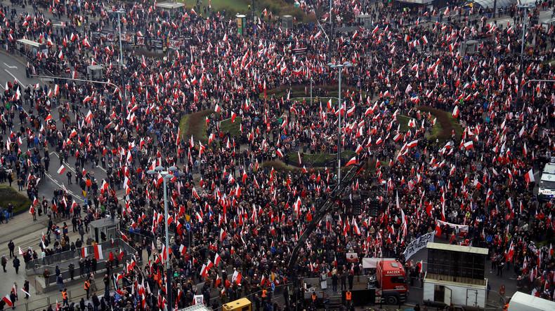 Polen - Zehntausende nehmen an Unabhängigkeitsmarsch teil