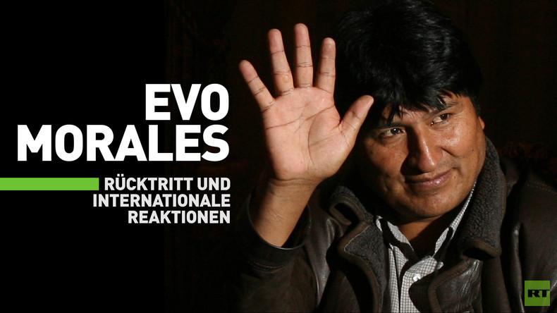 Evo Morales: Der Staatsstreich und die internationalen Reaktionen