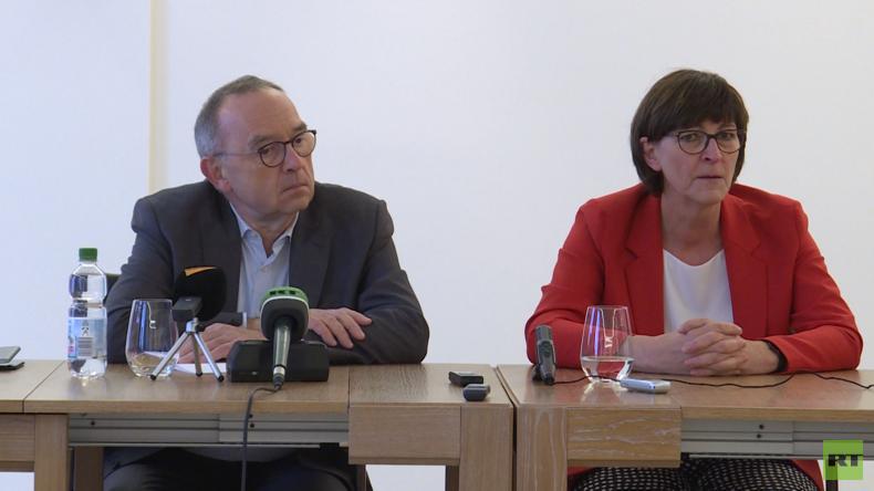 SPD-Kandidaten-Duo Esken und Walter-Borjans zum Thema Russland (Video)