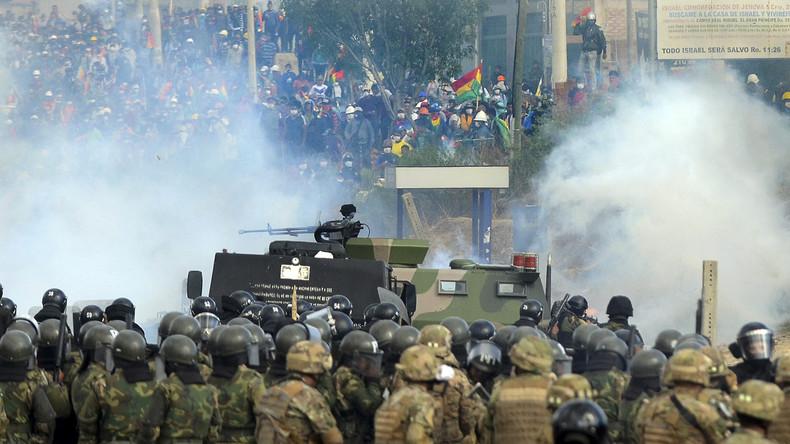 Bolivien: Polizei und Militär stoppen Demo gegen Übergangsregierung – Fünf Tote