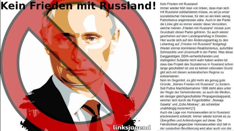 """Leipziger Linksjugend fordert: """"Kein Frieden mit Russland!"""""""