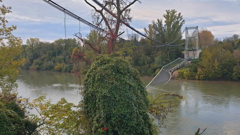 Frankreich: Brücke eingestürzt – Mehrere Menschen verletzt – Mindestens ein Todesopfer