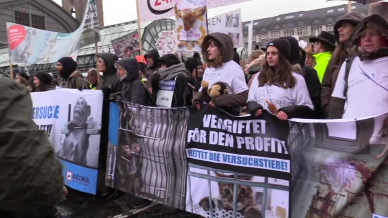 Hamburg: Nach Horror-Bildern aus Tierversuchslabor – Tausende protestieren gegen LPT