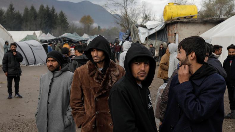 Migrantenkrise auf dem Balkan: Ausgangssperre in bosnischen Camps – Schüsse in Kroatien