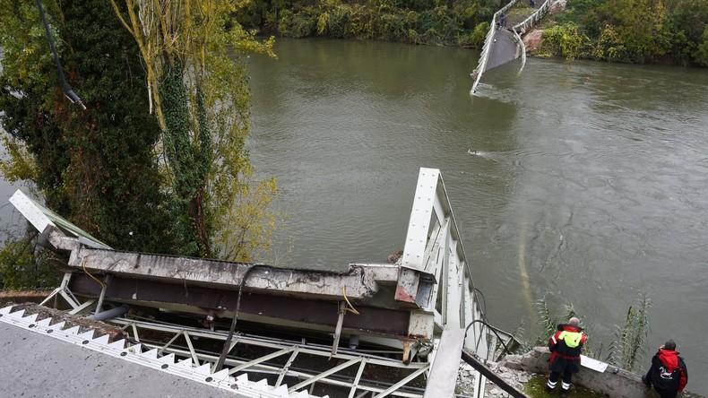 Frankreich: Ursache für Brückeneinsturz offenbar ein zu schwerer Laster