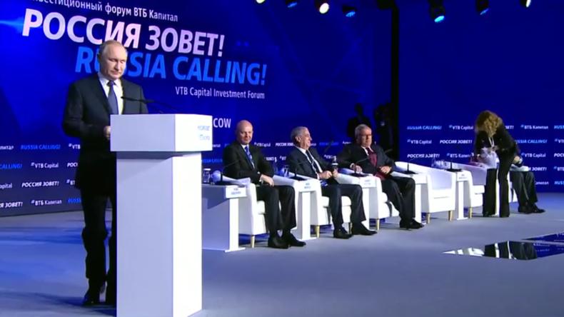 """Putin benennt wachsende Reallöhne als """"einen entscheidenden Schwerpunkt für die Regierung"""""""