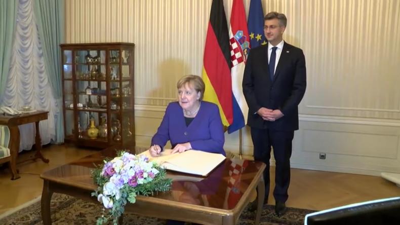 Merkel und der kroatische Premierminister besprechen EU-Beitritt für Nordmazedonien und Albanien