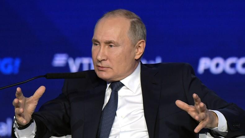Putin: USA wollen durch unlauteren Wettbewerb Russlands Wirtschaftswachstum untergraben