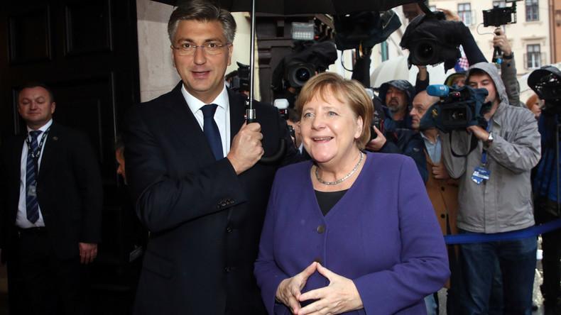 Merkel in Zagreb: Kroatien verteidigt für uns die EU-Außengrenze