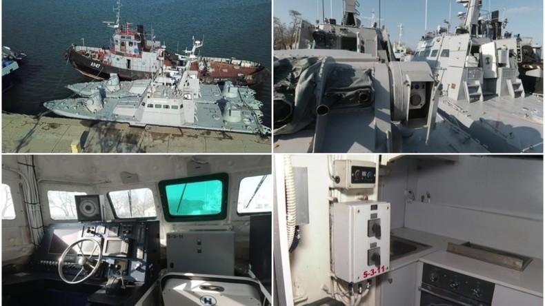 """Kiew: """"Russland gab Schiffe ruiniert und ohne Toiletten zurück"""" - Videobeweis widerlegt Behauptung"""