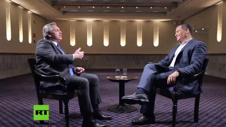 Peronismus, Ungleichheit und Medien in Lateinamerika – Alberto Fernández zu Gast bei Rafael Correa