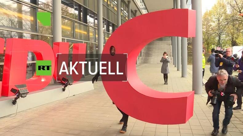 CDU-Parteitag: Annegret Kramp-Karrenbauer bietet Rücktritt an und erhält Zuspruch für Rede (Video)