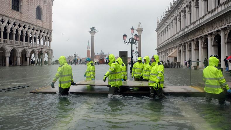 Venedig erneut unter Wasser – Schäden in dreistelliger Millionenhöhe (Video)