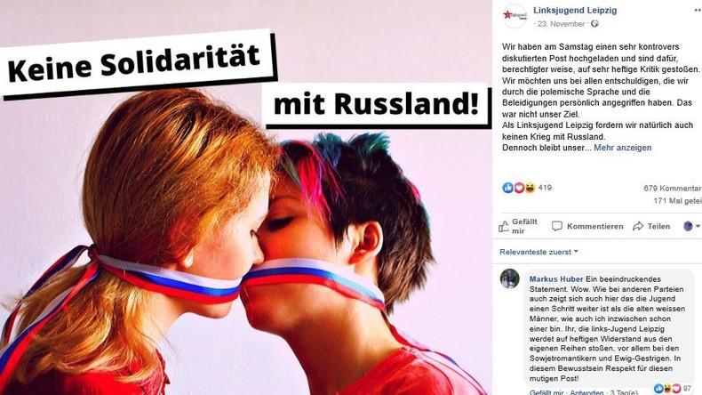 """""""Keine Solidarität mit Russland"""": Die wunderbare Welt der Leipziger Linksjugend"""