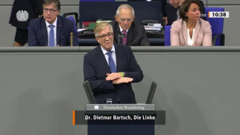 """Dietmar Bartsch will Merkels Abtritt: """"Blanker Wahnsinn! Deutschland braucht Wohnungen statt Waffen"""""""
