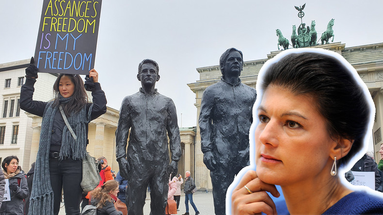 """""""Hat mit Rechtsstaat nichts zu tun"""" – Sahra Wagenknecht bei der Enthüllung von Whistleblower-Denkmal"""