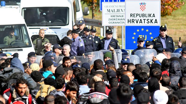 Stimmung wird aggressiver: Kroatische Polizei schießt erneut auf Migranten