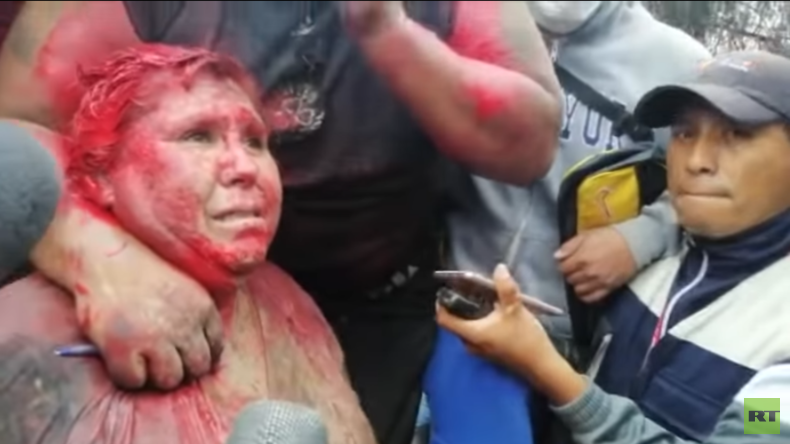 Bolivien: Misshandelte Bürgermeisterin bleibt standhaft (Video)