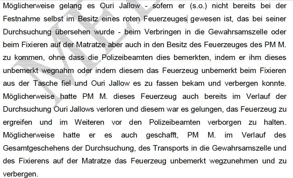 Todesfall Oury Jalloh: Wie staatliche Stellen einen mutmaßlichen Mord vertuschen