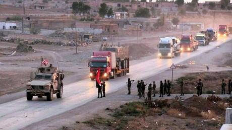 Dieser US-Konvoi kam am 3. November unter Beschuss der einstigen Alliierten, als er sich auf dem Weg in Richtung Irak befand.