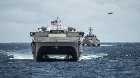 US-Kriegsschiffe im Südchinesischen Meer während einer Übung (29. Oktober 2019).