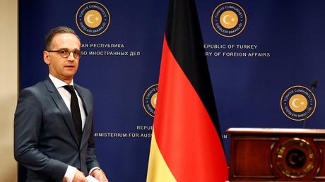 Der deutsche Außenminister Heiko Maas bei einer Pressekonferenz in Ankara, Türkei, 26. Oktober 2019.