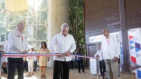 Der kubanische Präsident Miguel Díaz-Canel bei der Eröffnungsfeier der 37. Internationalen Messe von Havanna