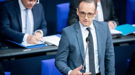 Heiko Maas (SPD) nimmt am 6. November 2019 bei der 123. Sitzung des Deutschen Bundestages teil.