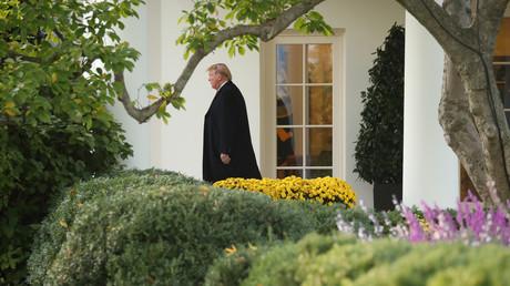 Trump allein zu Haus, belauert vom Tiefen Staat