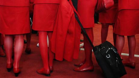 AUA-Mitarbeiter am Flughafen Wien Schwechat