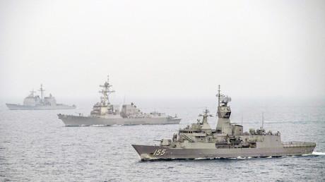 15. Januar 2019, Persischer Golf. Verbündete führen Militärübungen durch.