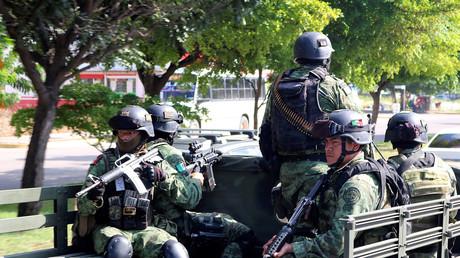 Eine mexikanische Spezialeinheit des Militärs, die im Kampf gegen die Kartelle zum Einsatz kommt, bei einer Patrouille in Culiacan.