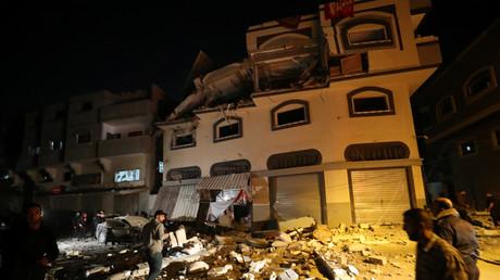 Das Haus des Feldkommandanten Abu Al-Atta nach dem israelischen Angriff in Gaza