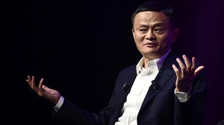 Jack Ma, CEO des chinesischen E-Commerce-Giganten Alibaba, während seines Besuchs auf der Gründungs- und Innovationsmesse Vivatech in Paris am 16. Mai 2019.