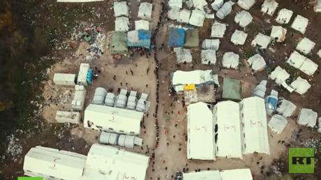 Das Zeltlager für Migranten an der EU-Außengrenze im bosnischen Bihać
