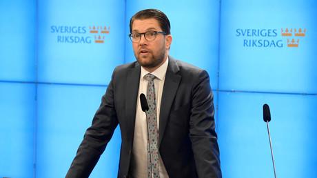 Parteiführer der Schwedendemokraten, Jimmie Åkesson, Stockholm, Schweden, 14. Januar 2019.