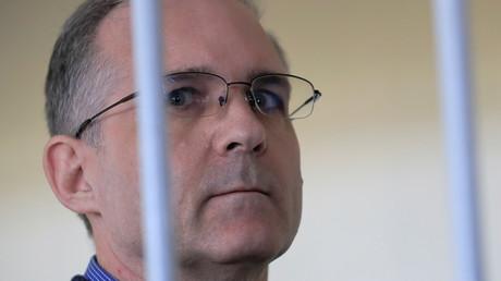Der ehemalige US-Marine Paul Whelan während einer Gerichtsverhandlung in Moskau