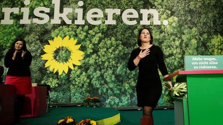 Parteiführerin der Grünen Annalena Baerbock, Bielefeld, Deutschland, 16. November 2019.