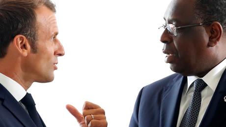 Der französische Präsident Emmanuel Macron und sein senegalesischer Amtskollege Macky Sall (Symbolbild)