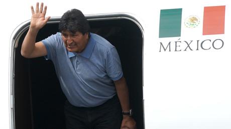 Evo Morales bei seiner Ankunft am Flughafen Mexiko City am 12. November 2019
