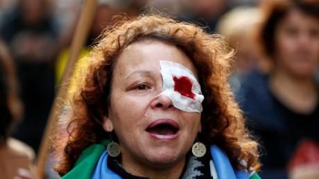 Demonstration gegen Gewalt an Frauen, Brüssel, Belgien, 24.November 2019.