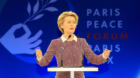 Die designierte EU-Kommissionspräsidentin Ursula von der Leyen beim Pariser