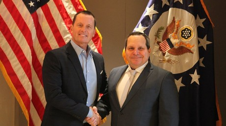 Die USA beleidigt? Botschafter Grenell (links), hier bei einem Empfang Otto Gebauers, des Repräsentanten des selbsternannten venezolanischen Interimspräsidenten Juan Guaidó, im November 2019