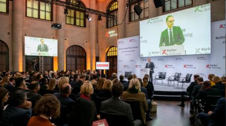 Bundesaußenminister Heiko Maas am 26. November beim Berliner Forum Außenpolitik der Körber-Stiftung.