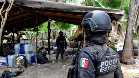 Symbolbild: Die mexikanische Bundespolizei hebt ein Drogenlabor in der Region El Dorado aus (4. Juni2019).