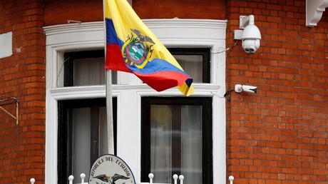 Die Botschaft Ecuadors in London, Großbritannien, 5. April 2019.