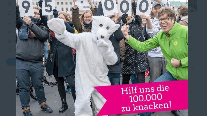 """""""Hilf uns, die 100.000 zu knacken!"""" – Die Grünen werben um Mitglieder"""