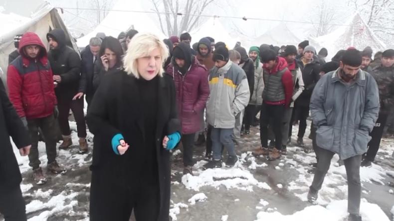 Bosnische EU-Kommissarin für Menschenrechte in Vucjak-Migrantenlager: Ich schäme mich hierfür