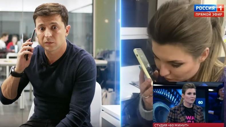 """Charme-Offensive? Russische Journalistin ruft Selenskij an und nennt ihn im Anschluss """"höflich"""""""